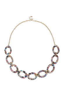 Amber Rose Confetti Chain Rope Necklace - 297063