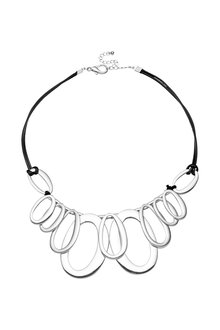 Amber Rose Multi Oval Statement Necklace - 297066