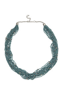 Amber Rose Multi Stranded Seedbead Necklace - 297068