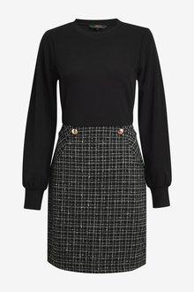 Next 2-In-1 Bouclu Dress - 297133