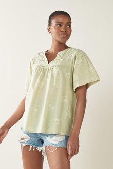 Next Lace Insert Textured T-Shirt - 297531