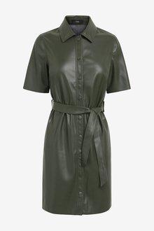 Next Faux Leather Dress - 297725