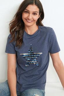 Next Sequin Star T-Shirt - 297780