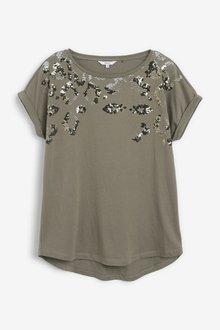 Next Sequin Embellished T-Shirt - 297783
