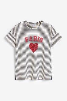 Next Sequin Heart T-Shirt - 297805