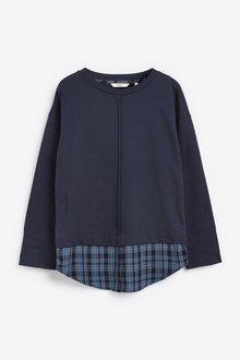 Next Mock Shirt Layer Sweatshirt - 297835