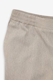 Next Taupe Slim Fit Suit: Trousers-Slim Fit - 297876