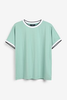 Next Rib Neck T-Shirt - 297901