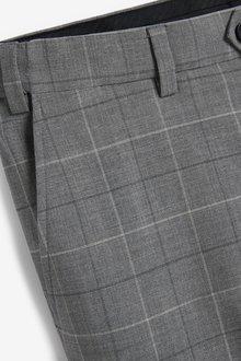 Next Signature Motionflex Check Suit: Trousers-Slim Fit - 297918