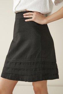 Next Linen Blend Mini Skirt - 297920