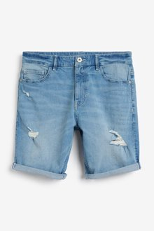 Next Ripped Denim Shorts With Stretch - 298030