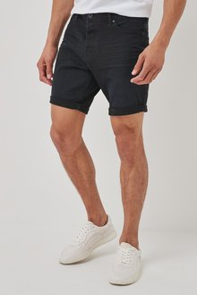 Next Authentic Vintage Denim Shorts With Stretch-Straight Fit - 298032