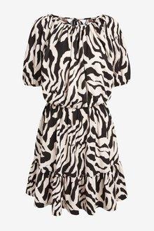 Next Puff Sleeve Dress - 298034