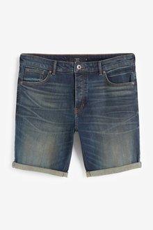 Next Authentic Vintage Denim Shorts With Stretch-Slim Fit - 298036