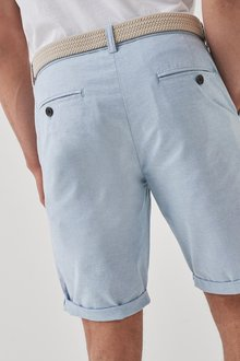 Next Belted Oxford Chino Shorts - 298040