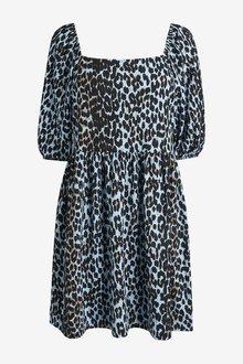 Next Puffed Sleeve Shirt Dress - 298045