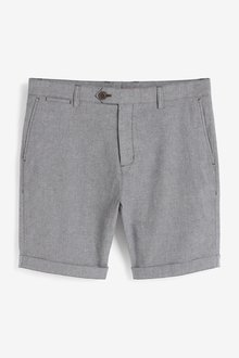 Next Slimmer Fit Signature Smart Chino Shorts With Stretch - 298048