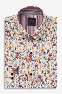 Next Slim Fit Print Shirt - 298077