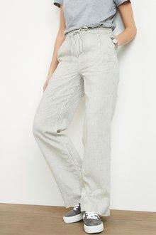 Next Linen Blend Wide Leg Trousers - 298084