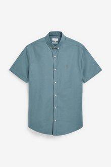 Next Short Sleeve Stretch Oxford Shirt - 298101
