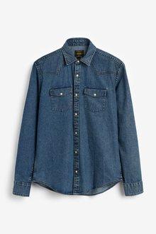Next Denim Mid Western Short Sleeve Shirt - 298105