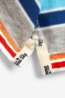 Next Mr Blue Sky Organic Cotton Stripe T-Shirt - 298389