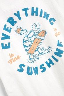 Next Mr Blue Sky Organic Cotton Graphic T-Shirt - 298391