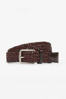 Next Leather And Cord Weave Belt - 298420