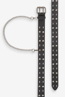 Next Riveted Belt With Chain - 298427