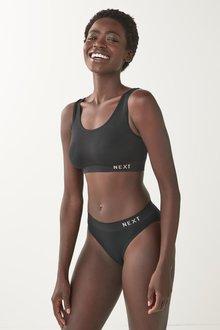 Next Seamfree Bra/High Leg Briefs And Thong Three Pack - 298486