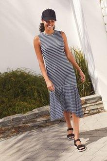 Next Stripe Rib Midi Dress - 298495