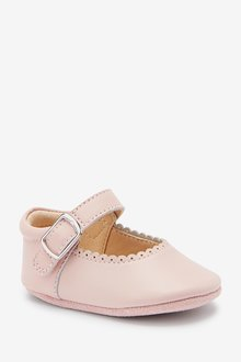 Next Little Luxe Mary Jane Pram Shoes (0-18mths) - 298604