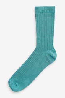 Next Shiny Ribbed Ankle Socks 4 Pack - 298703