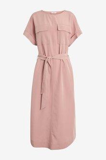 Next Utility Shirt Dress-Petite - 298756