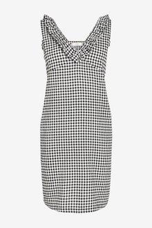 Next Linen Mix Ruffle Dress-Petite - 298769