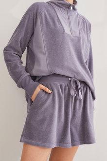 Next Cotton Towelling Shorts-Petite - 298805
