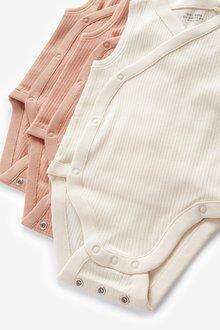 Next 3 Pack Vest Bodysuits (0mths-3yrs) - 298900