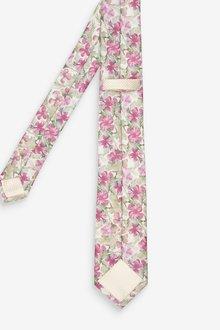 Next Printed Floral Tie - 298966