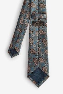 Next Paisley Signature Silk Tie - 298975