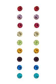 Next Rainbow Stud Earrings 9 Pack - 299201