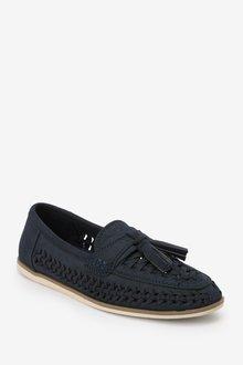 Next Woven Tassel Loafers (Older) - 299260