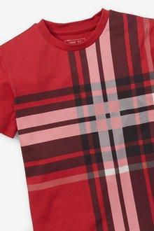 Next 2 Pack Check T-Shirts (3-16yrs) - 299366