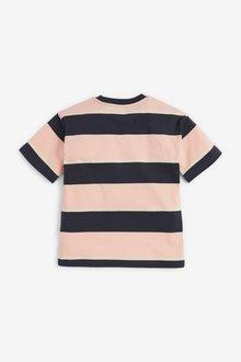 Next Stripe Short Sleeve Relaxed Drop Shoulder Fit T-Shirt (3-16yrs) - 299382