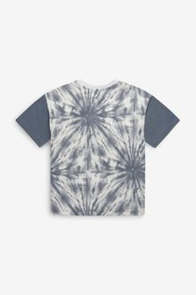 Next Relaxed Drop Shoulder Fit Tie Dye Panel T-Shirt (3-16yrs) - 299404