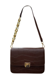 The Product Room Chain Strap Detail Messenger Bag Chocolate - 299572