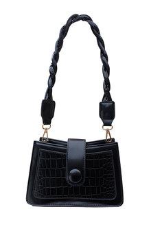 The Product Room Sara Woven Strap Handbag Onyx - 299575