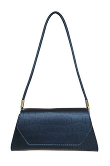 The Product Room Elise Crocodile Pattern Handbag Ebony - 299582