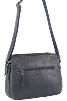 Milleni Multi-Zip Leather X-Body Bag - 300424