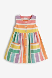 Next Rainbow Stripe Dress (3mths-7yrs) - 300468