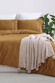 Dreamaker Ripple Poly Velvet Quilt Cover Set - 300477
